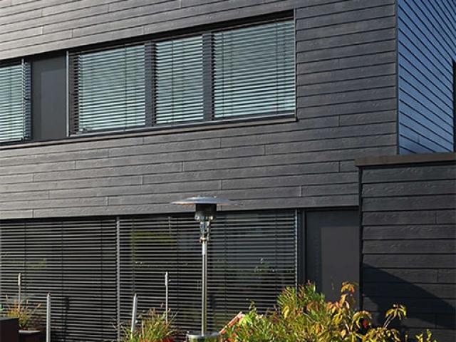 Eternit-Fassade. Foto: Passivhaus-eco®, ARCHITEKTURBÜRO, Herzogenaurach